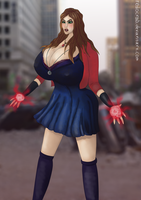 Scarlet Witch breaster than ever by Redocrab
