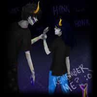 Vriska and Gamzee 2 by 3Psyche