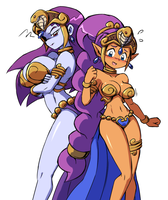 [FA] Shantae And Risky by PaulGQ