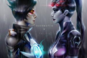 tracer vs widowmaker by Miriam-Moon