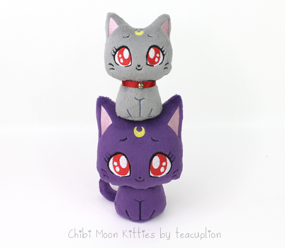 Chibi Luna and Diana plush by TeacupLion