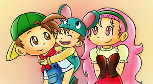 Harvest moon family by K-b0t