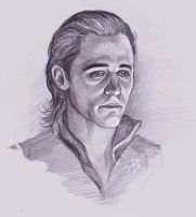 Loki sketch by DafnaWinchester
