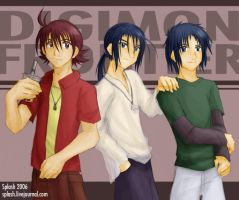 Digimon Frontier Trio 2006 by splashgottaito