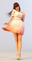 Kasumi 3DS Render 4 by x2gon