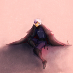 [The Arcana Game] Asra in Julians clothes by DSerpente