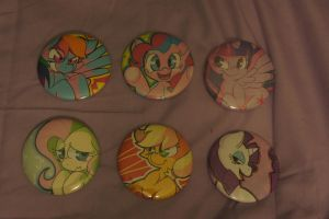 MLP Buttons :For Sale: by LordBoop