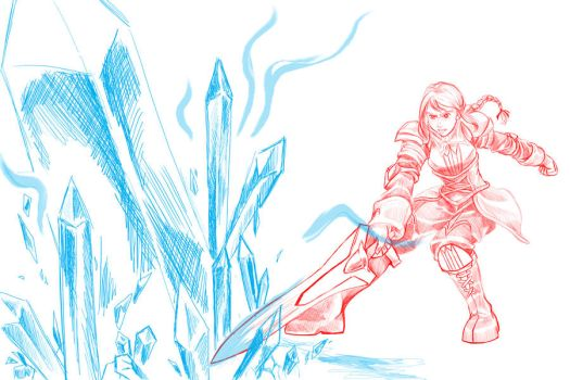 Agrias - Stasis Sword WIP by Shattered-Will