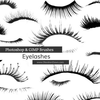 Eyelashes Photoshop and GIMP Brushes by redheadstock