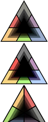 Dither Triangles by pixel-flow