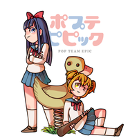 Pop Team Epic by inkOrange