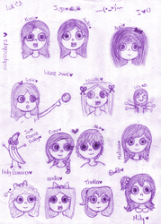 Oc's Doodles I by AndiiGrr