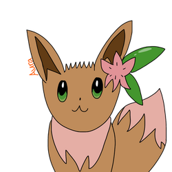 Eevee with Shaymin-like features by DigitalOtakuArtist