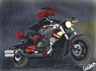 Low to the rain by Caritami