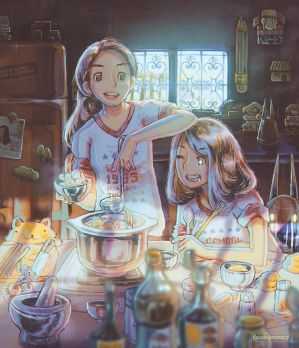 Mary is Happy, Mary is Cooking. by Raindropmemory