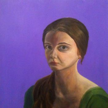 Self Portrait Green and Purple by KefiraDalila