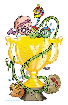 Toxic Gross Cup illustration by lewstringer
