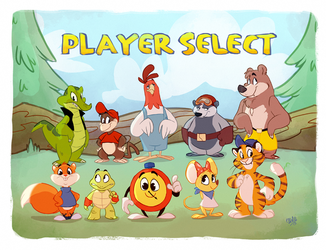 Diddy Kong Racing by rollingrabbit