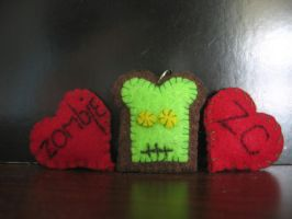 .: Zombie Toast Charm :. by B-MovieScreamQueen1