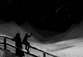 Starry night by A6A7