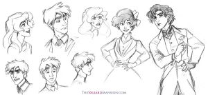 Valiard Main Cast Sketches - August 2015 by The-Ez
