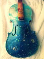 Skyscape Violin by dreamylittlethings