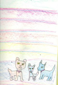 Cloudjumper, Cloudwings and Azurewings as dogs by Kelseyalicia