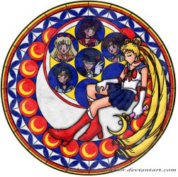 Sailor Moon's Stain Glass by RedPegasus237