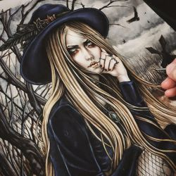 The Season Of The Witch Coloring Process by EnysGuerrero