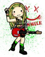 avril lavigne - SMILE by koy-kartoon
