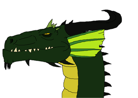 Green european dragon disney style by Redspets