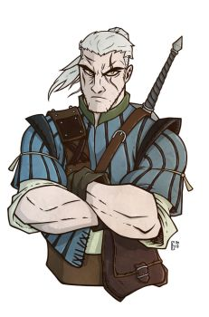 Geralt of Rivia by Kendal14
