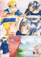 SasuNaru:kissing? by Archie-The-RedCat