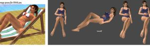 Suntherapy poses for XNALara by BubbleCloud