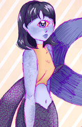 Sclera the Cyclops Mermaid by KLIBRN