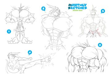 Monthly Sketches - August 2018 by McTaylis