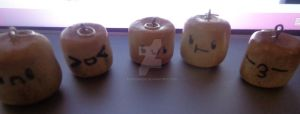 Polymer clay marshmellows by PenguinEsk