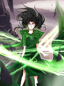 Homestuck: JADE FIGHT BACK. by Chaltiere