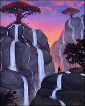 Waterfalls - Spitpaint IV #235 by AngelGanev