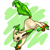 Leafeon by avui
