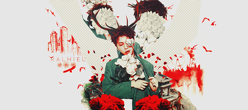 Junhyung  - Red Flower by Ralhiel