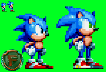 Sonic Mania/Modern Sonic by TheFernanDesk