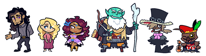 COMMISSION: DnD Group 9 by Cubesona