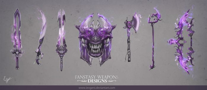 Fantasy weapons designs by iEvgeni