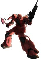 Char's Zaku by Blitz-Wing