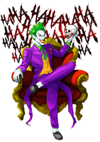 The Clown Prince of Crime by kevzter