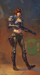 Girl with a gun by Hellstern