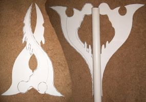 Fang Blade Paper Stencil by Ruby-Hime