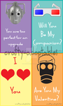Doctor Who Valentines cards set 2 (CHEAP)