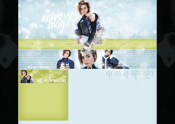 layout ft. Lily Collins by Andie-Mikaelson